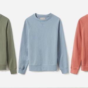 Everlane Classic Crew Neck Sweater In Medium Blue